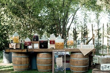 Rustic Wedding Hydration Station - Drink Dispensers rustic-cups-and-glassware