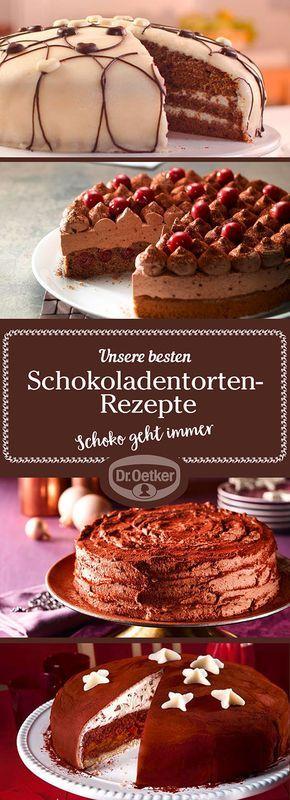 Die Mitarbeiter der Dr. Oetker Versuchsküche entwickeln für Sie gelingsichere, leckere Schokoladentorten-Rezepte für jeden Anlass - lassen Sie sich inspirieren!