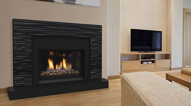 Regency Horizon HZ33CE With Pacific Wave Black Surround | Ideas for  replacing fireplace | Pinterest | Gas fireplaces, Fireplaces and Waves - Regency Horizon HZ33CE With Pacific Wave Black Surround Ideas