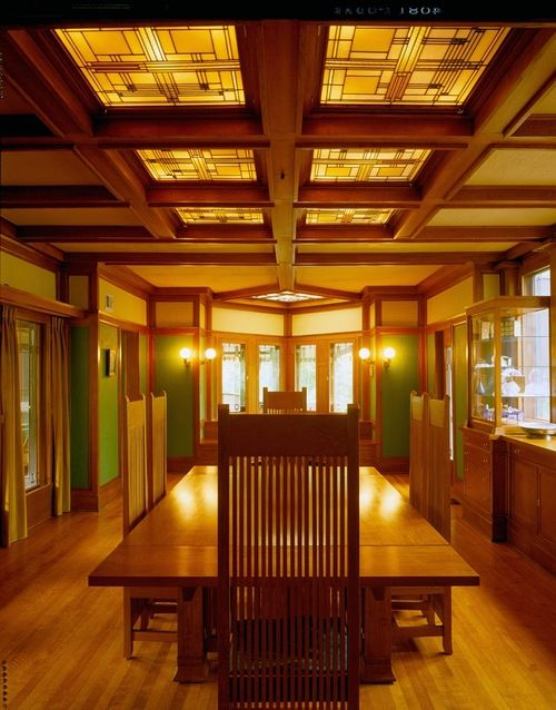 Frank Lloyd Wright, Ward W. Willits House, Highland Park, Illinois, 1901    Dining Room