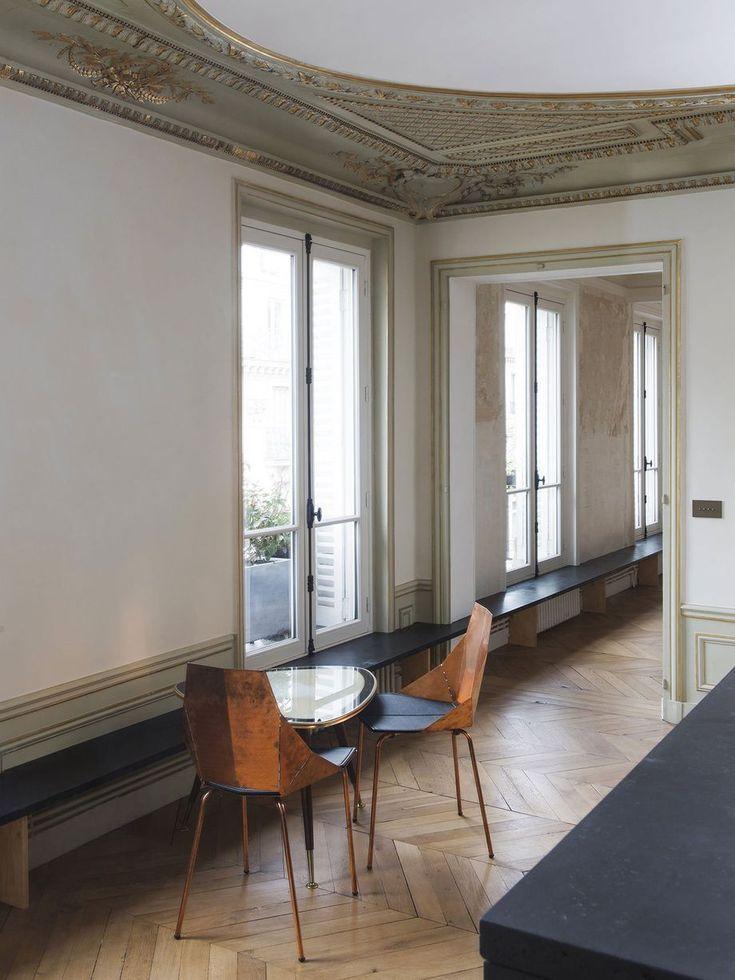 Classic Paris Apartment Goes Minimal With Stark Renovation Paris Apartment Interiors Minimalist Decor Parisian Apartment