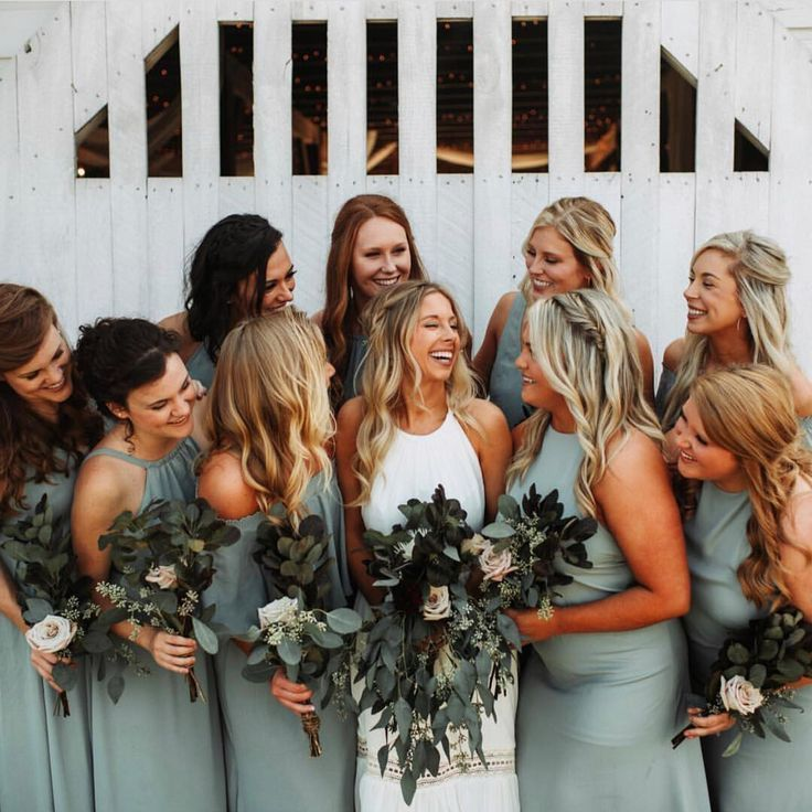 Silver Sage Bridesmaid Dresses
