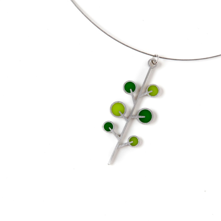 Tree Necklace by Spark Metal Studio Delicate, cute, and a little quirky ^_^