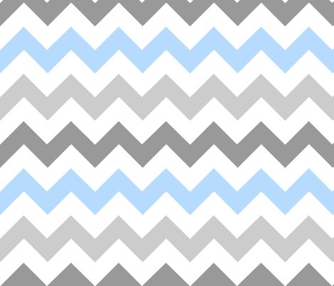 Gray Blue Chevron Fabric By Stickelberry On Spoonflower