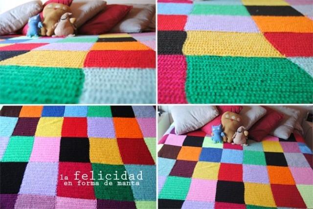 Manta de lana de colores