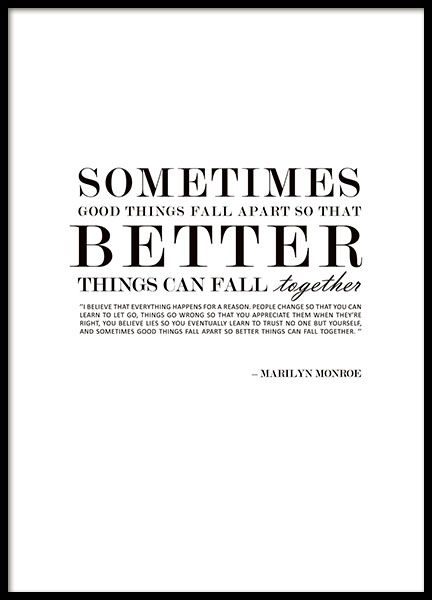 Textposter med Marilyn Monroe citat, design MHMP