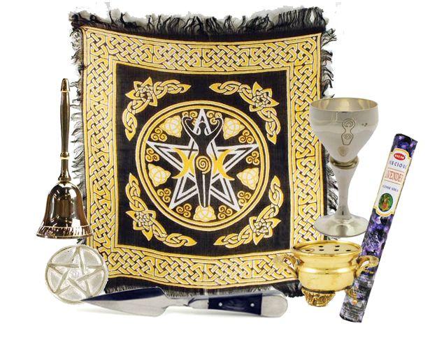 Basic Goddess Wiccan Altar Kit