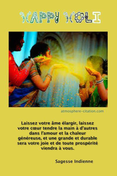 Happy Holi  le triomphe du mal par le bien  Trouvez encore plus de citations et de dictons sur: http://www.atmosphere-citation.com/sagesse/happy-holi-le-triomphe-du-mal-par-le-bien.html?