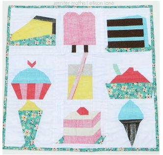 Free paper pieced patterns. Popsicles, cupcakes, ice cream patterns for paper piecing.