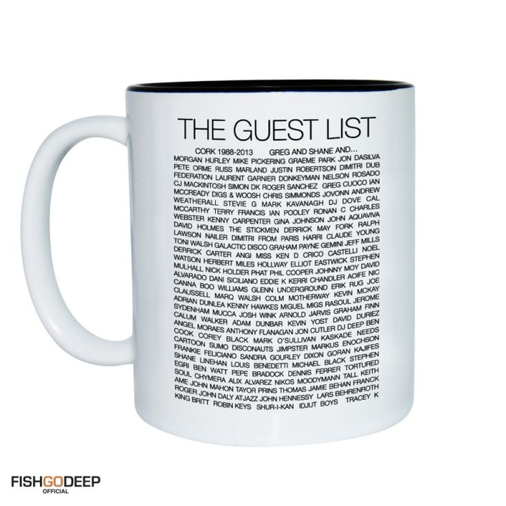 The Guest List Mug & Tin From HairyBaby.Com