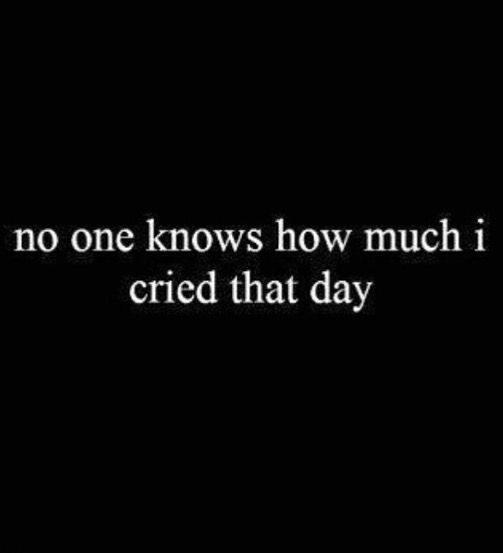 I cried and I cried until I couldn't cry anymore