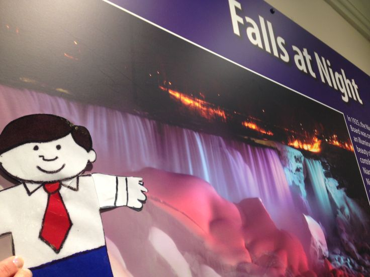 Flat Stanley, St. Thomas Public Library's Character-in-Residence at Niagara Falls, February 2014.