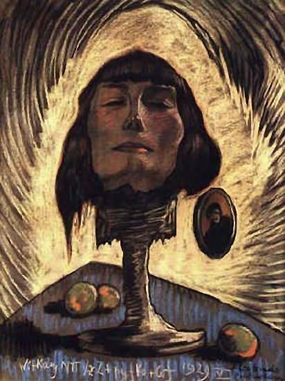 """""""Portrait of Maria Nawrocka"""" by Stanisław Ignacy Witkiewicz (Witkacy)"""