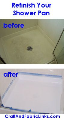 Refinish your fiberglass shower pan to look new again.