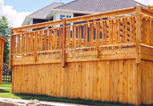 wood deck railing design ideas see many deck railing ideas httpawoodrailingcom20141116100s of deck railing ideas designs pinterest deck