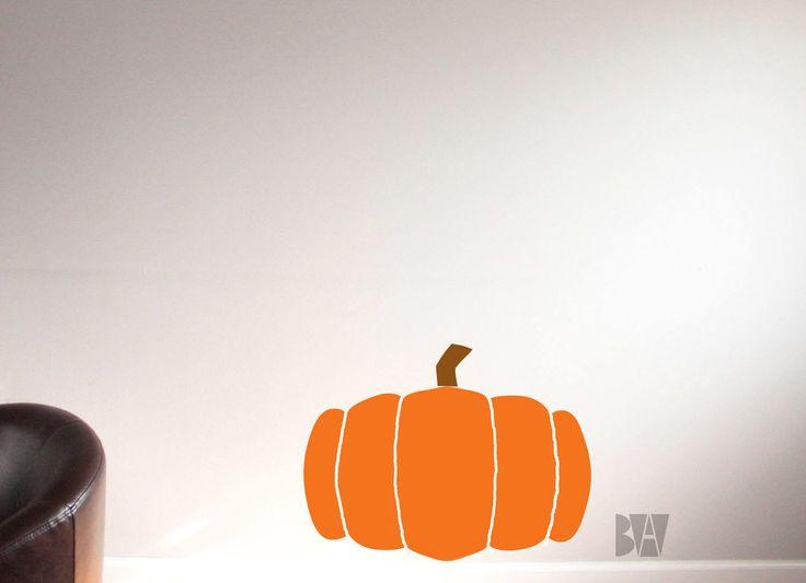 Pumpkin Wall Decal. Halloween Vinyl Decal. Thanksgiving Decor. Pumpkin Decal. Office Decals. Wall sticker. Home decor decals. by BioncaAlexandria on Etsy https://www.etsy.com/uk/listing/244058930/pumpkin-wall-decal-halloween-vinyl-decal