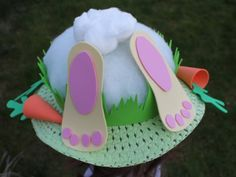 Bunny's bottom Easter bonnet - Dreaming of a Craft Room