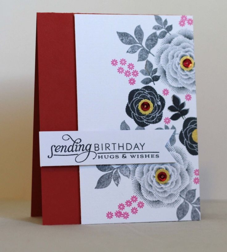 Card Making Inspiration Ideas Part - 18: Natural Beauties, PTI, Centers Of The Larger Flowers Have Some Tsukineko  Delicata Gold Ink And Red Sequins, Cuts, Crops And Creativity