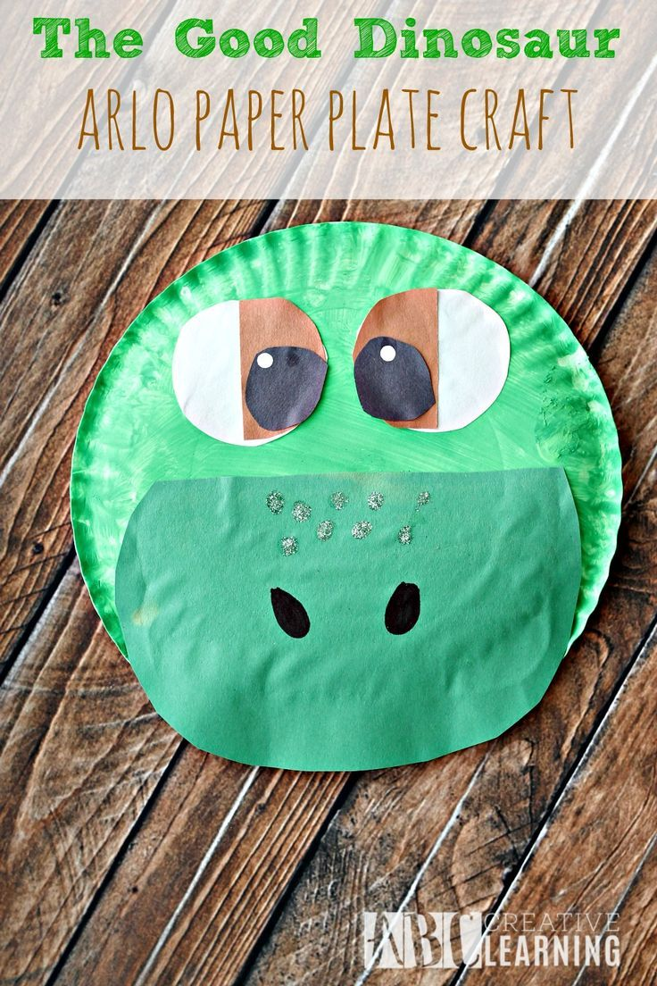 Dinosaur arts and crafts - The Good Dinosaur Arlo Paper Plate Craft