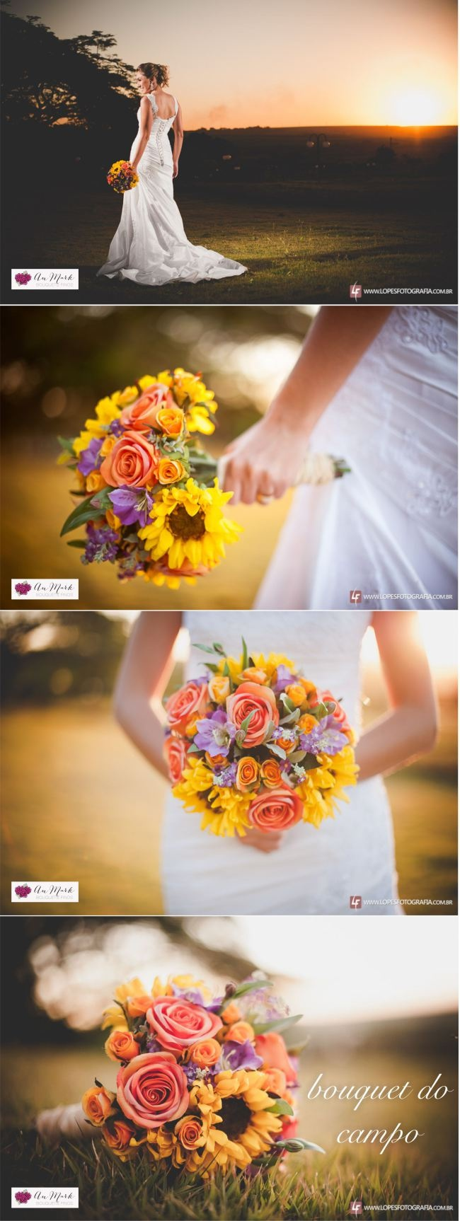 Bouquet de Noiva / Bouquet de Flores do Campo / Bouquet Artificial / An Mark - Bouquets Finos / Buque / Girassol
