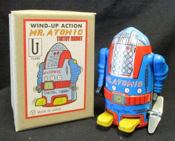 Mandarake   Sanko Seisakusho No.221 MR.ATOMIC (Mr. ・ atomic) / Atomic Robo / Wind-up toy / blue