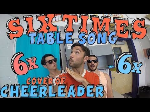 Six Times Table Song! (Cover of CHEERLEADER by OMI) - YouTube