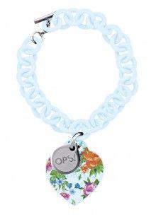 Ops! Objects náramek Flower světle modrý - 590 Kč
