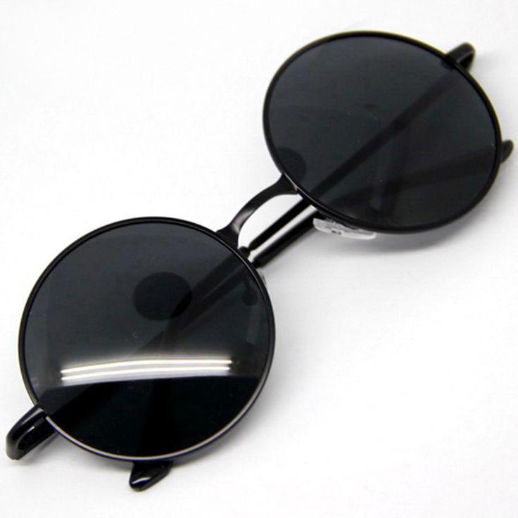 Goggles Steampunk Sunglasses Men Round Glasses  Unisex  Style black brown