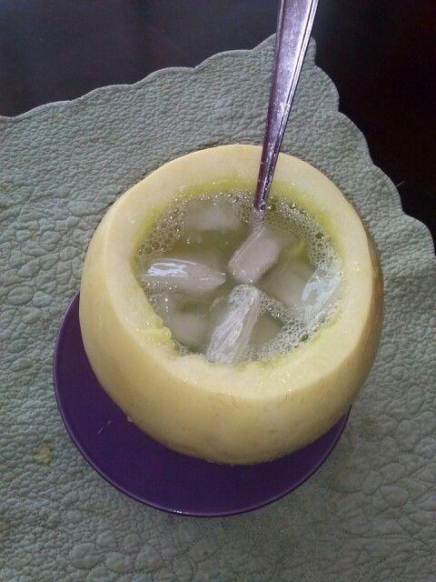 Wen melon con vino...