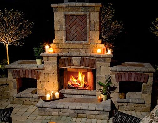 17 best images about outdoor fireplace on pinterest for Patio fireplace plans