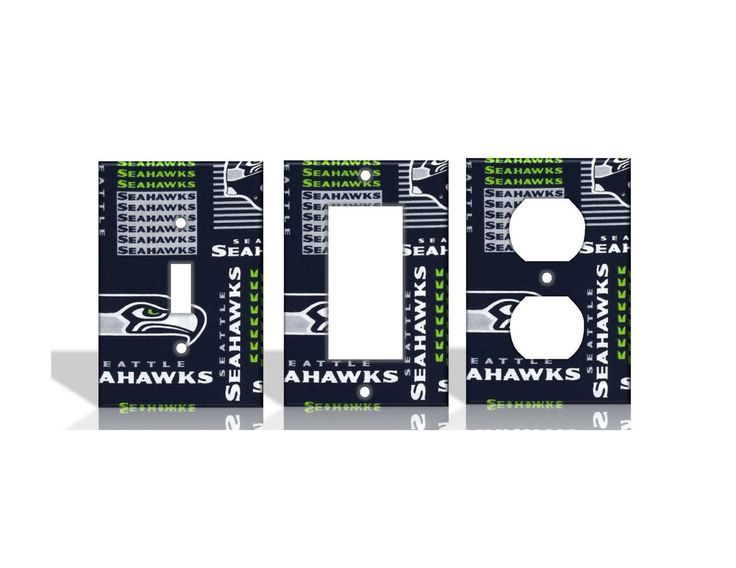 details about seattle seahawks 2 green light switch covers football nfl home decor outlet - Seattle Home Decor