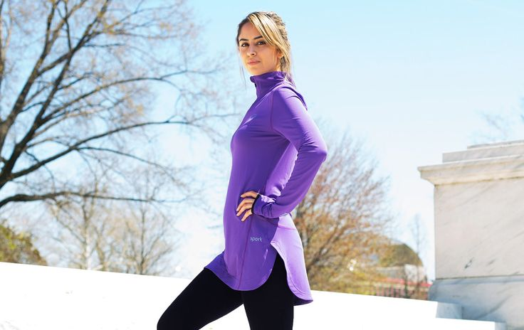 It's stylish and functional without the binding feel that some athletic wear can have. #workout #clothes #athleisure http://greatist.com/live/womens-workout-clothes-get-modest-makeover