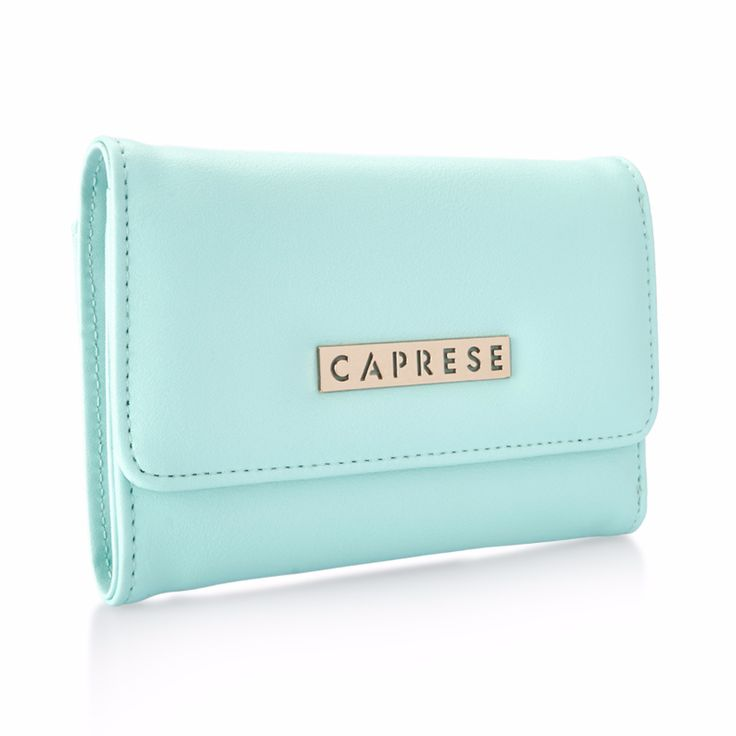 Inject a little color into your coinage with this double-duty purse from Caprese.
