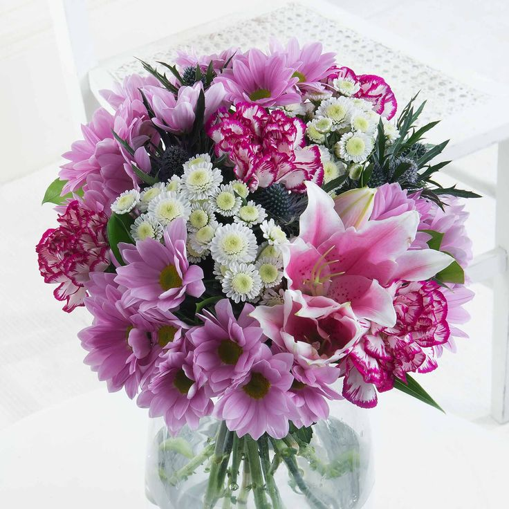 Blossoming Pink - What a gorgeous bouquet! Showcasing all our favourite flowers in stunning white and pink hues, this will make the perfect gift.