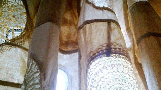 Curtain at the window  Free Shipping OOAK Eco by recyclingroom, $350.00