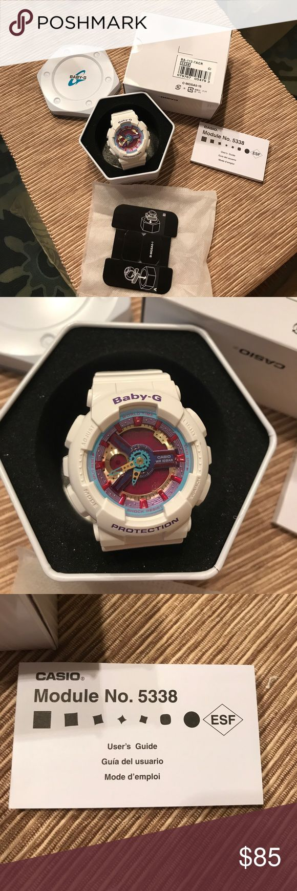 💃🏻 🌵 Casio Baby-G Multicolor Dial White Resin 🌵💃🏻💕 Casio  100 Baby-G Multicolor Dial White Resin Multi Quartz Ladies Watch BA112  awesome 👏 dust bag, box, brand new Casio Accessories Watches