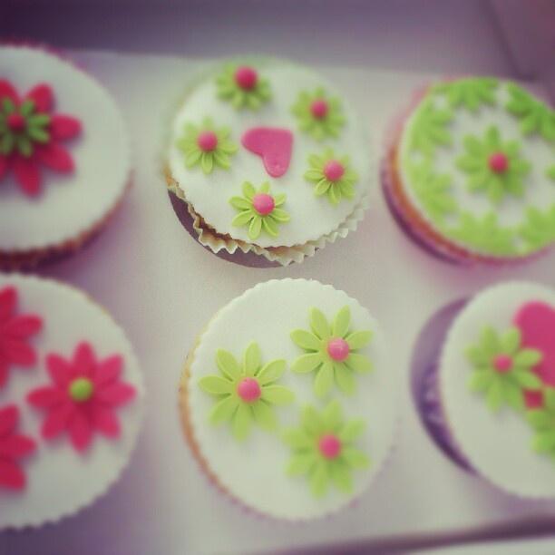 #Cupcakes met bloem