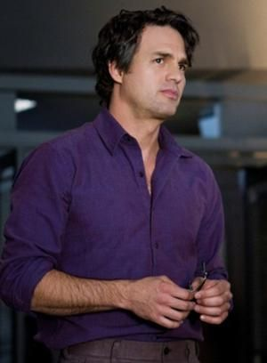 "Dr. Bruce Banner, the quiet, reserved nuclear scientist and the alter ego of The Hulk. I wouldn't even mind ""the other guy"" if I had the brilliant Dr. Banner as my fictional character husband.    Image from: http://ironman.wikia.com/wiki/Bruce_Banner_(film)"