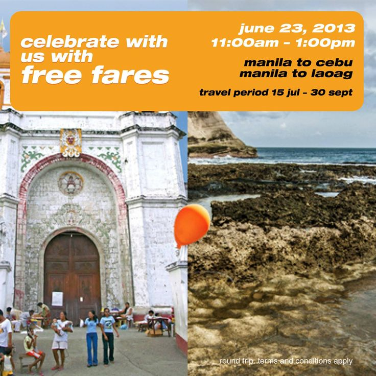 Tiger Airways PH: Fly Manila to Cebu and Laoag and Vice Versa for FREE!  CLICK HERE: http://airline-promos.blogspot.com/2013/06/tiger-airways-ph-fly-manila-to-cebu-and.html