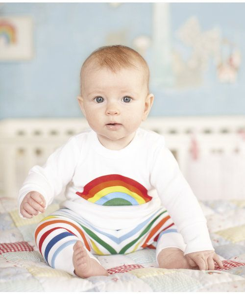 new range 'little bird' by Jools Oliver for Mothercare. Love the rainbow top