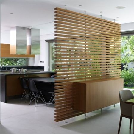 Open plan living spaces might be a way to create a home for Wooden partition wall designs living room