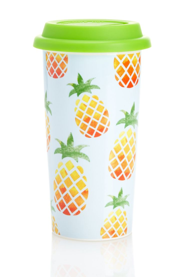 """Nothing quite says """"Hello Summer!"""" like this Pineapple Coffee Tumbler."""