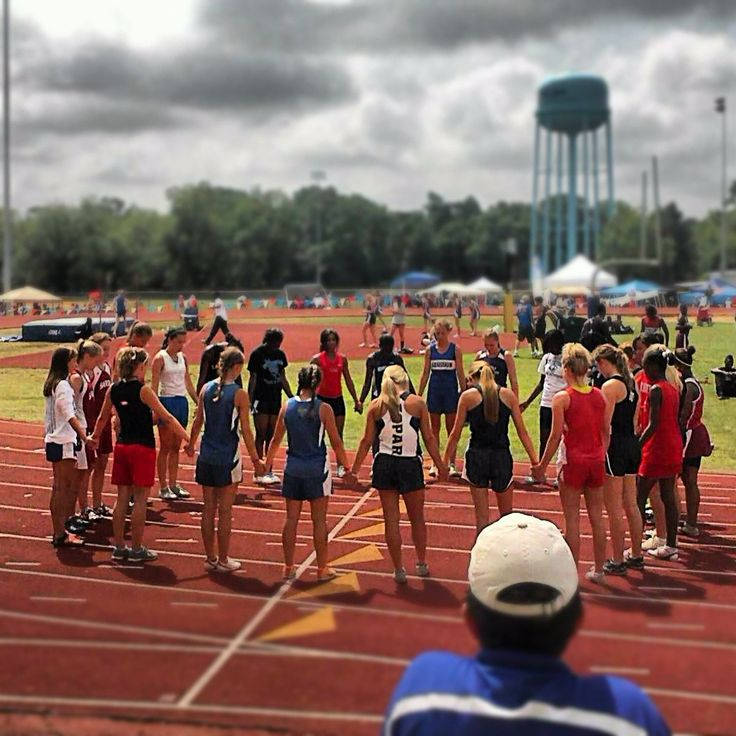 Prayer before track meet...we did this @ sectionals. im like...hey let's pray.!!!!