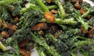 Yotam Ottolenghi: Sprouting broccoli with anchovy and smoky crumbs