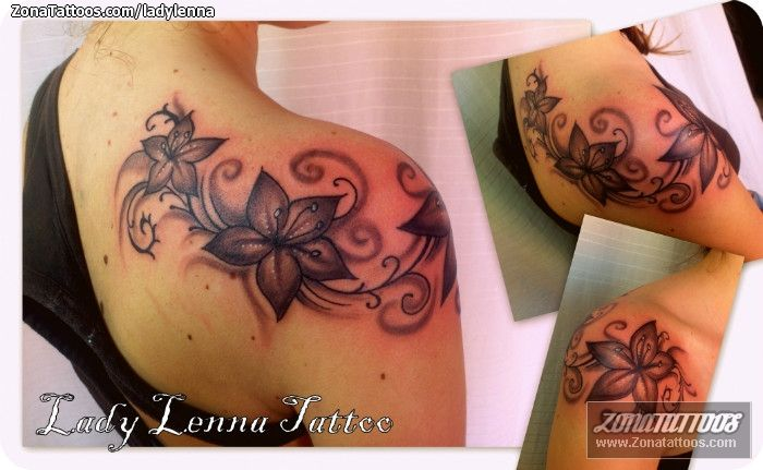 I love the way this wraps around the shoulder...different flowers for me, but very feminine!