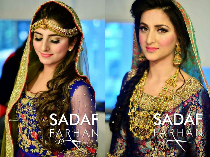 Makeup by sadaf Farhan beautiful and elegant brides