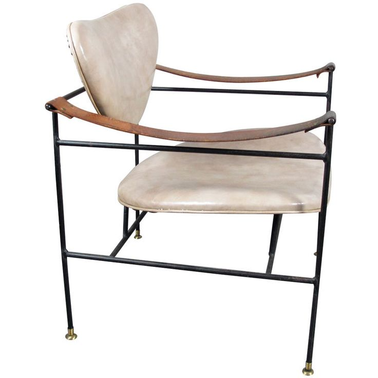 Luther Conover Leather And Iron Chair