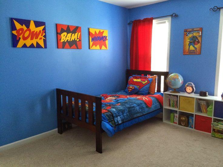 Superman Bedroom: Pow! Bam! Whamo! Superman!