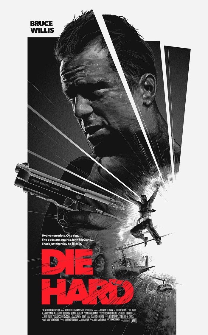 Die Hard Action Movie Poster Movie Artwork Movie Posters Minimalist