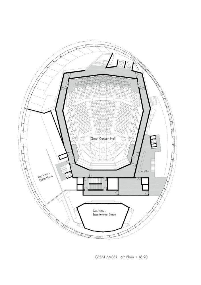 Great Amber Concert Hall,Floor Plan
